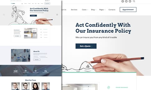 Insurance Website Demo