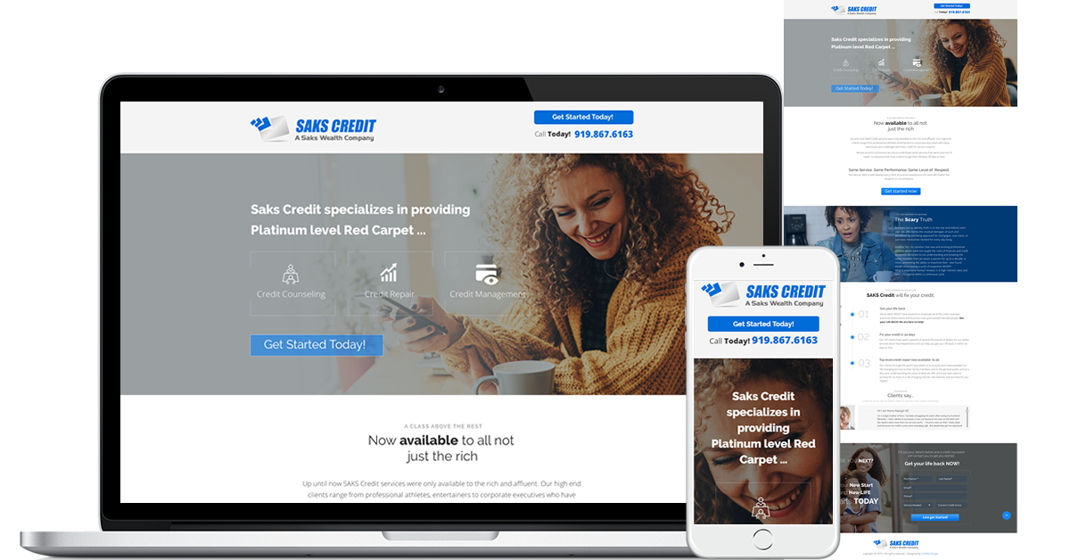 Credit Repair Landing Page Website
