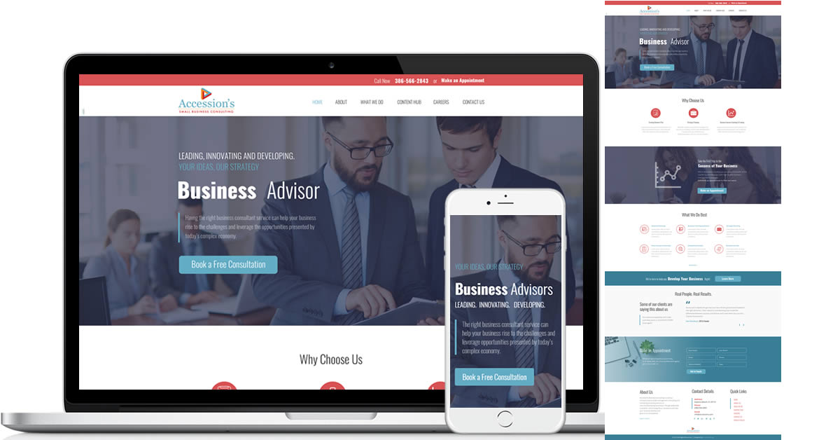 Business Consulting Website - Accession's
